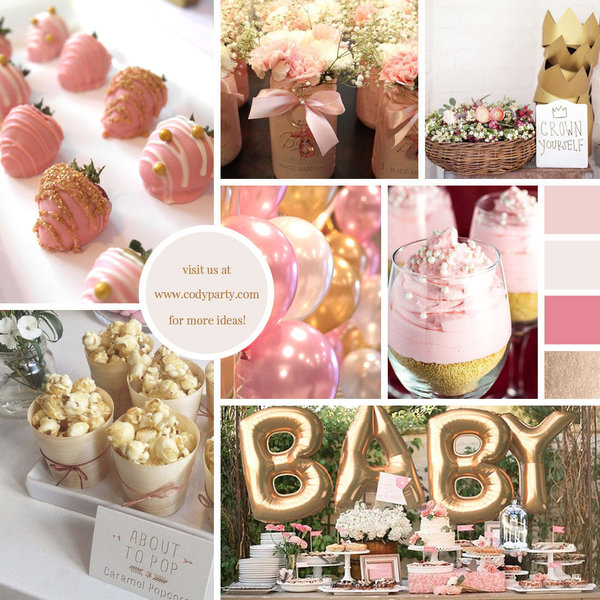 Pink Gold Baby Shower Theme Ideas Cody Party Event Blog